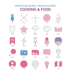 cooking and food icon dusky flat color - vintage vector image