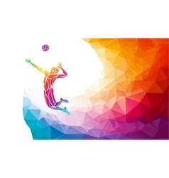Creative silhouette of volleyball player Team vector
