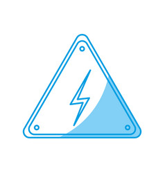 Electric warning sign icon vector