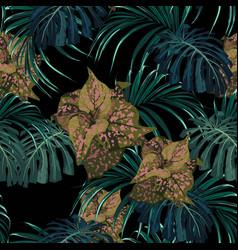 exotic tropical jungle plants vector image