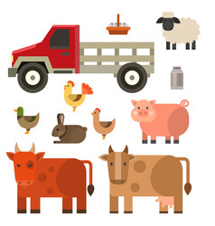 Farm icon nature food vector