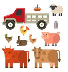 Farm icon nature food vector