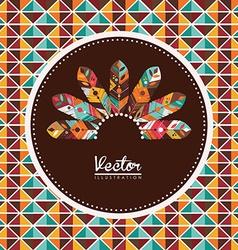 Feather design vector