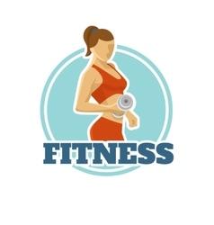 Fitness Logo Flat Design vector