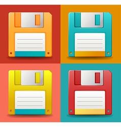 Floppy disc vector
