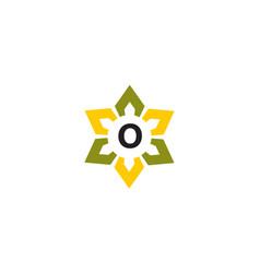 Flower infinity letter o vector