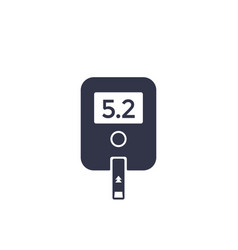 glucose meter icon on white vector image
