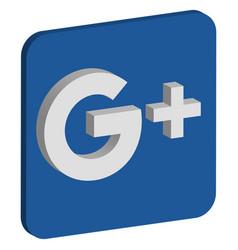 Google plus logo isometric icon vector