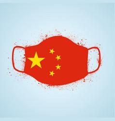 grunge china safety breathing mask vector image