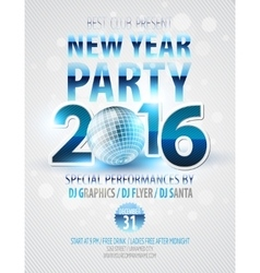 Happy New Year party poster template vector