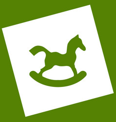 Horse toy sign white icon obtained as a vector