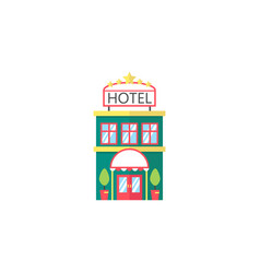 hotel flat icon travel tourism vector image