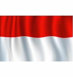 indonesian national flag red and white vector image
