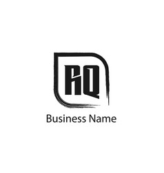 initial letter rq logo template design vector image