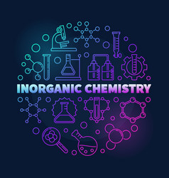 Inorganic chemistry colorful round linear vector