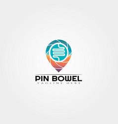 Intestine logo template creative logo design vector