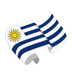 Isolated flag of uruguay vector
