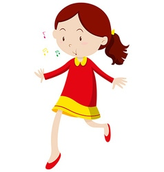 Little girl with happy face vector