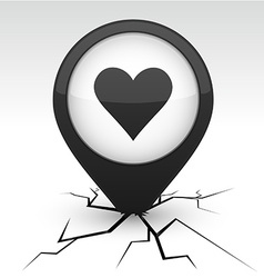 Love icon in crack vector
