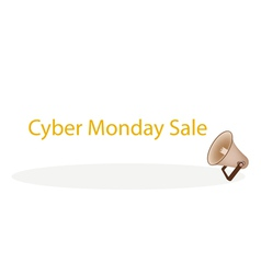 Megaphone shouting word cyber monday sale vector