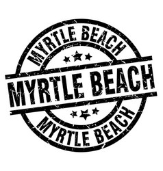 Myrtle beach black round grunge stamp vector