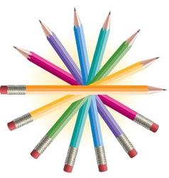 Pencils Spiral vector image