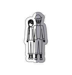 People couple together icon vector