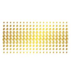 pie chart golden halftone grid vector image