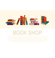 piles and stacks books for book store or shop vector image