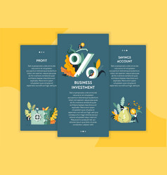 profit and business investment savings account web vector image