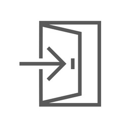 public navigation line icon exit vector image