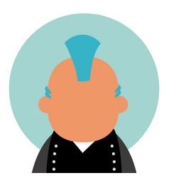 Punk man avatar vector