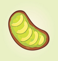 realistic fresh avocado snack vegan food vector image