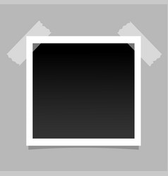 realistic photo frame on sticky tape template vector image