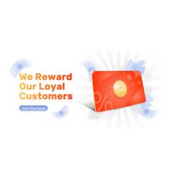 Reward loyal customer web banner vector