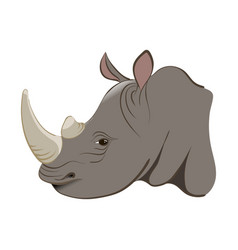 Rhinoceros in the cartoon style vector