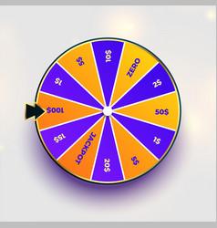 Roulette fortune spin wheel luck design vector