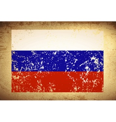 Russian Federation Vintage Flag vector image