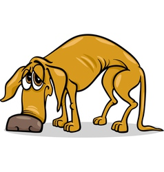 sad homeless dog cartoon vector image