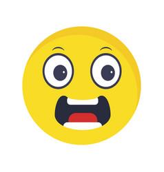 Scared emoji icon vector