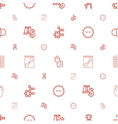 science icons pattern seamless white background vector image