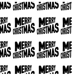 Seamless pattern made from merry christmas vector