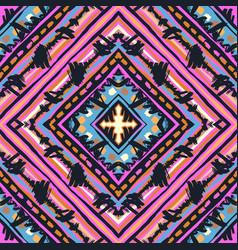 Seamless tribal boho pattern vector