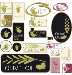 Set of olive oil labels vector