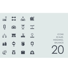 Set of scales weighing balance icons vector