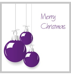 Shiny purple color christmas decoration baubles vector