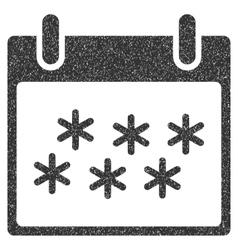 Snow Calendar Day Grainy Texture Icon vector