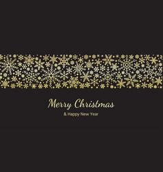 snowflake seamless border pattern christmas vector image