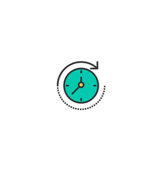time passing icon line design business icon design vector image