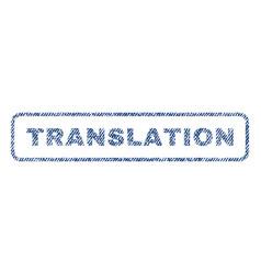 Translation textile stamp vector
